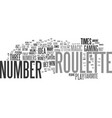 the magic roulette number text background word vector image vector image