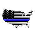 thin blue line usa vector image