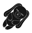 Toy rabbit icon in black style isolated on white vector image vector image
