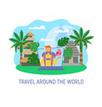 travel and blogging vector image vector image
