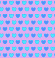 Valentines daybackground with blue heartsSeamless vector image vector image