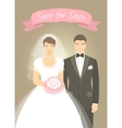 wedding photo portrait bride and groom vector image