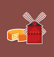 windmill building with cheese vector image