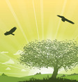Tree Grass Landscape vector image