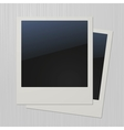 Two blank retro polaroid photo frames vector image