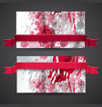 vinous abstract banner set vector image
