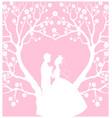 wedding cardwith groom and bride vector image