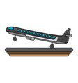 airplane jet isolated vector image