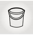 sand bucket icon design vector image