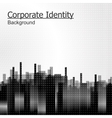 Abstract background black city vector image