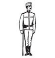 austria soldier vintage engraving vector image