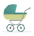 Baby stroller Isolated on white background vector image vector image