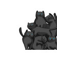 background with cartoon black cats vector image vector image