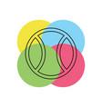 ball tennis white sport design icon vector image