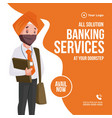 banner design banking services vector image
