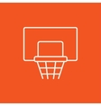 Basketball hoop line icon vector image vector image