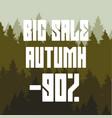 big autumn sale discount 90 percent vector image vector image