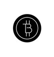 bitcoins technology black concept icon vector image