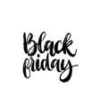 black friday handwritten phrase vector image