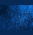 blue glitter stardust background vector image