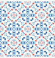 blue red pattern fresh boho background vector image vector image