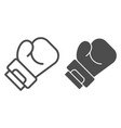 boxing glove line and glyph icon sport equipment vector image vector image