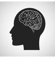 Brain design organ icon Flat vector image