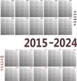 calendar 2015 2024 vector image