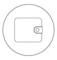 change purse icon black color in circle vector image vector image