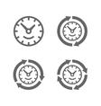 clocks with arrows as a symbol run time vector image vector image