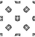 coat of arms of germany pattern seamless black vector image vector image