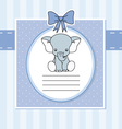 Cute elephant vector image