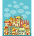 Cute houses vector image