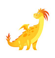 cute yellow dragon vector image