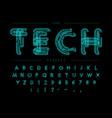 cyber tech font contour scheme style vector image vector image