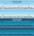 doha skyline event banner vector image vector image