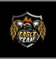 eagle mascot esport logo premium vector image vector image