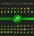 Ecology icons nature logo vector image vector image