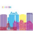 edmonton v2 skyline pop vector image vector image