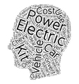 Electric Vehicle Kits Build Your Own Electric Car vector image vector image
