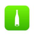 empty wine bottle icon digital green vector image vector image