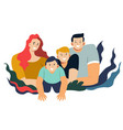 family portrait mother and father with sons vector image vector image