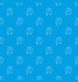 fast lizard pattern seamless blue vector image vector image