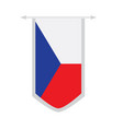 flag of czech republic on a banner vector image vector image