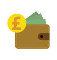 flat design pound currency vector image vector image
