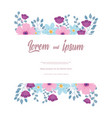 flowers wedding greeting card or invitation vector image