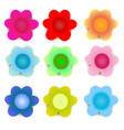 flowersweet flowers with shadows on white vector image