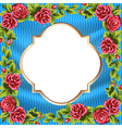 frame rose border vector image
