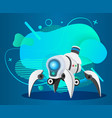 futuristic robot with bulbs and lights vector image