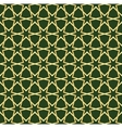 gold and green moroccan seamless vector image vector image